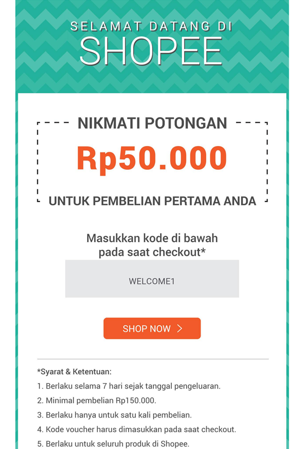 Kode Voucher Shopee