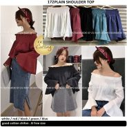 Plain Shoulder Top